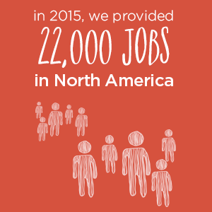 22,000 jobs provided in 2015 | Donate in Pleasanton, CA