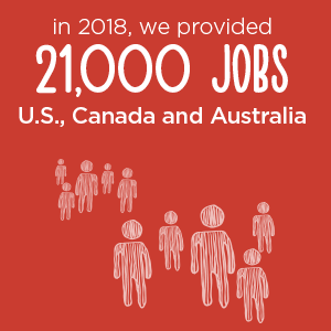 21,000 jobs provided in 2018 | Donate in Pleasanton, CA