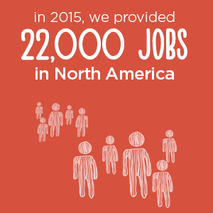 22,000 jobs provided in 2015 | Donate in Philadelphia, PA