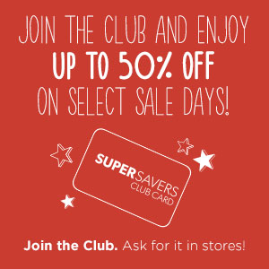 Discount Super Savers Club Card |Savers Thrift Stores in El Paso, TX