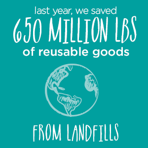 Save reusable goods from landfills | Donate in Wasilla, AK