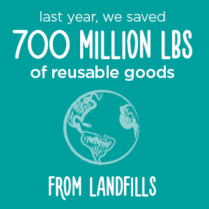 Save reusable goods from landfills | Donate in Pleasanton, CA