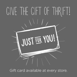 give the gift of thrift |Value Village Thrift Stores in Regina, SK