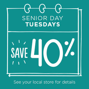 Senior Day Tuesdays | Savers Thrift Stores in Coon Rapids, MN