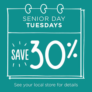 Senior Day Tuesdays | Savers Thrift Stores in Moncton, NB